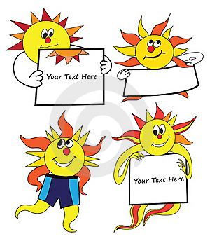 Vector Sun Characters Collection Stock Image - Image: 20045651