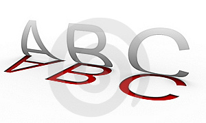 ''Abc'' Letters Stock Photography - Image: 20045662