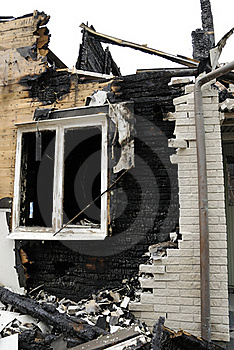 Burnt Building Royalty Free Stock Images - Image: 20046919