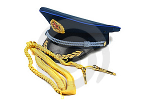 Cap And Ribbon Of Chinese Air Force Royalty Free Stock Image - Image: 20048736