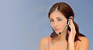 Beautiful Customer Service Woman Royalty Free Stock Photo - Image: 20055705