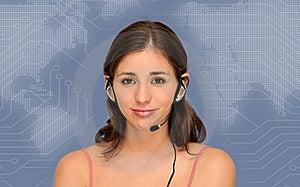 Beautiful Customer Service Woman Royalty Free Stock Image - Image: 20055796