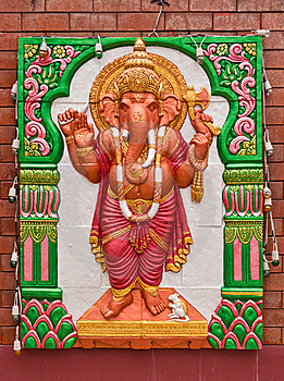 Standing Ganesh Concrete Carving Stock Image - Image: 20057321
