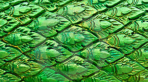 Green Thai Style Pattern Wall Stock Photos - Image: 20057493