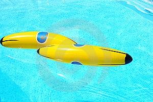 Banana In Swimming Pool Stock Photos - Image: 20058283