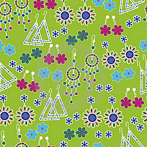 Vector Seamless Pattern Of Fashion Jewelry Stock Photography - Image: 20058592