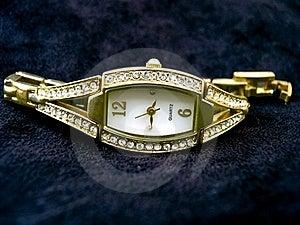 Golden Ladies Watch Stock Image - Image: 20061201