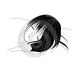 Sleeping Girl Stock Image - Image: 20065891
