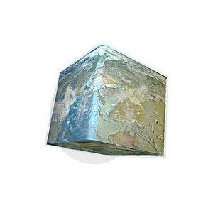 Cube World Isolation Royalty Free Stock Images - Image: 20069259