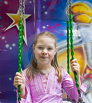 The Beautiful Girl On An Attraction Stock Photos - Image: 20070163