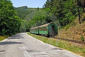 Groene Trein Royalty-vrije Stock Afbeeldingen - Afbeelding: 20070369