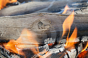Very Hot Campfire Close Up Royalty Free Stock Images - Image: 20072899