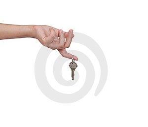 Human Hand And Key Royalty Free Stock Photos - Image: 20073348