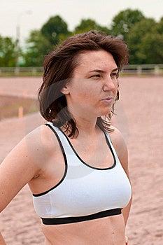 Athlete Thinking For The Training Royalty Free Stock Photography - Image: 20073377
