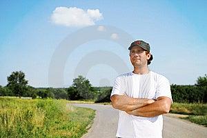 Thinking Man Outdoors Royalty Free Stock Photo - Image: 20074505