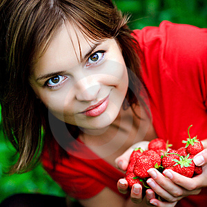 Sweet Strawberry In Hands Stock Photo - Image: 20075900