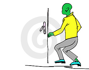 Alien At The Door Royalty Free Stock Photography - Image: 20076607