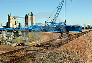 Crane Stockyard Royalty Free Stock Images - Image: 20076739