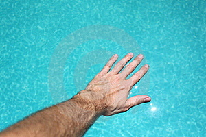 Hand On Water Stock Image - Image: 20077541
