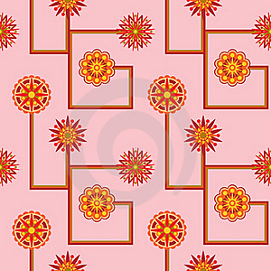 Retro Flower Seamless Wallpaper Stock Images - Image: 20078754