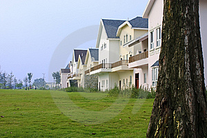 Neat And Tidy Houses Royalty Free Stock Photography - Image: 20079627