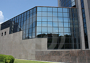 Fragment Of The Facade Of A Modern Building Stock Image - Image: 20079821