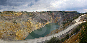 Open Pit  Lake Royalty Free Stock Images - Image: 20089619