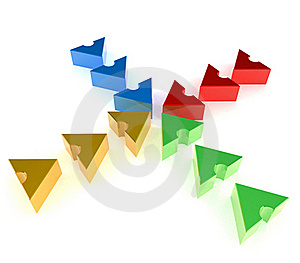 Teamwork Arrows Royalty Free Stock Images - Image: 20089719