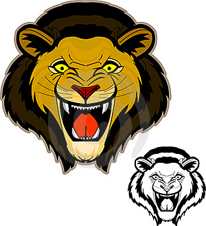 Roaring Lion Head Mascot Stock Images - Image: 20090564