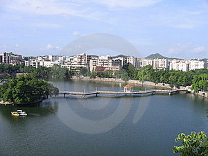 Bridge Over Pond In China Stock Photos - Image: 20090913