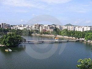 Bridge Over Pond In China Stock Photos - Image: 20090913