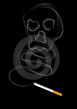 The Smoke Of Cigarette Royalty Free Stock Photo - Image: 20091515