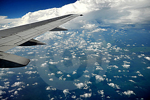 Earth And Plane Wing Royalty Free Stock Images - Image: 20091689