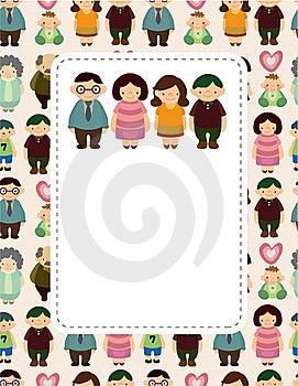 Cartoon Family Card Royalty Free Stock Photo - Image: 20091705