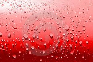 красные просто Waterdrops Стоковые Фотографии RF - изображение: 20094558