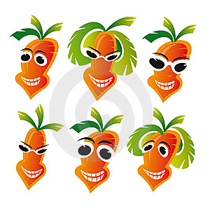Cheerful Carrots Royalty Free Stock Image - Image: 20095266