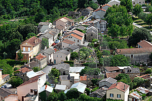 Small Village In Europe With Clustered Houses Stock Photos - Image: 20096303