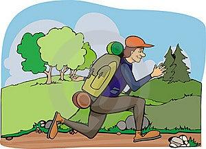 Running Hiker - Vacation Stock Photos - Image: 20096593