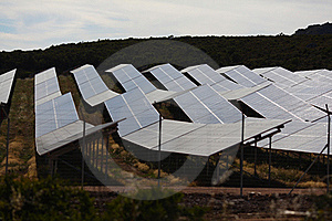 Solar Panels To Harness Renewable Energy Stock Photos - Image: 20097453