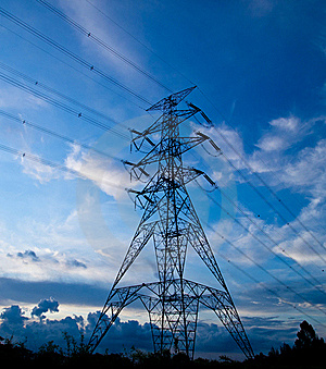 Power Supply And Transmission Stock Image - Image: 20097471