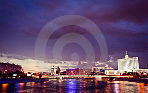 Night Moscow Cityscape Royalty Free Stock Photography - Image: 20097527