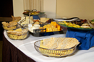 Cheese And Cracker Party Table Royalty Free Stock Photo - Image: 20097765