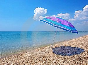 Beach Umbrella, Sea And Sky Royalty Free Stock Image - Image: 20099006