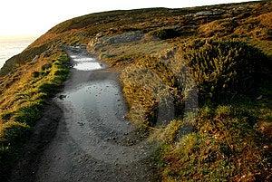 Irish Coast Line Path Stock Photos - Image: 2011013