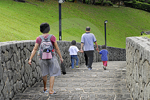 Walking Down The Road Stock Image - Image: 2011931