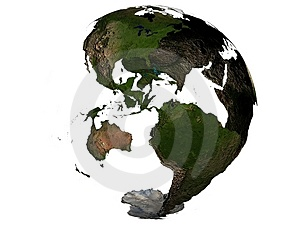 America on an earth globe Royalty Free Stock Image