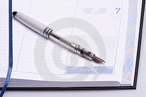 Business agenda Stock Image