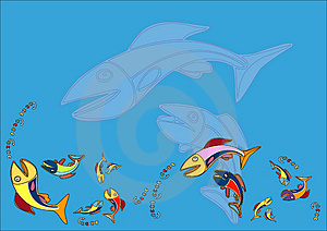 Crazy Fishes Stock Photos - Image: 2019853