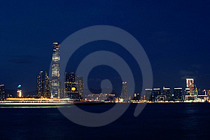 Hong Kong Western Kowloon Night View Stock Photography - Image: 20100842
