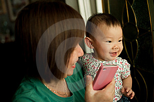 Grandmother And Child Smiling Stock Photo - Image: 20105620